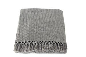 Katoenen plaid stone grijs
