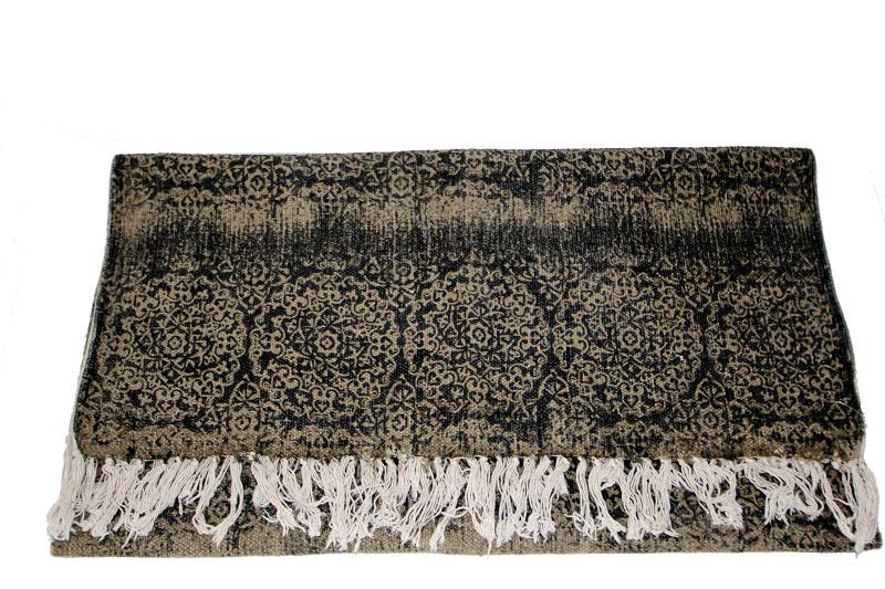 basic-home-vloerkleed-bruin-zwart